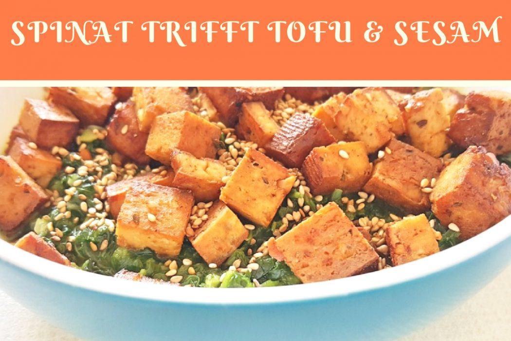 Blattspinat Mit Nussigem Tofu Sesam 52 Teilfasten Rezept